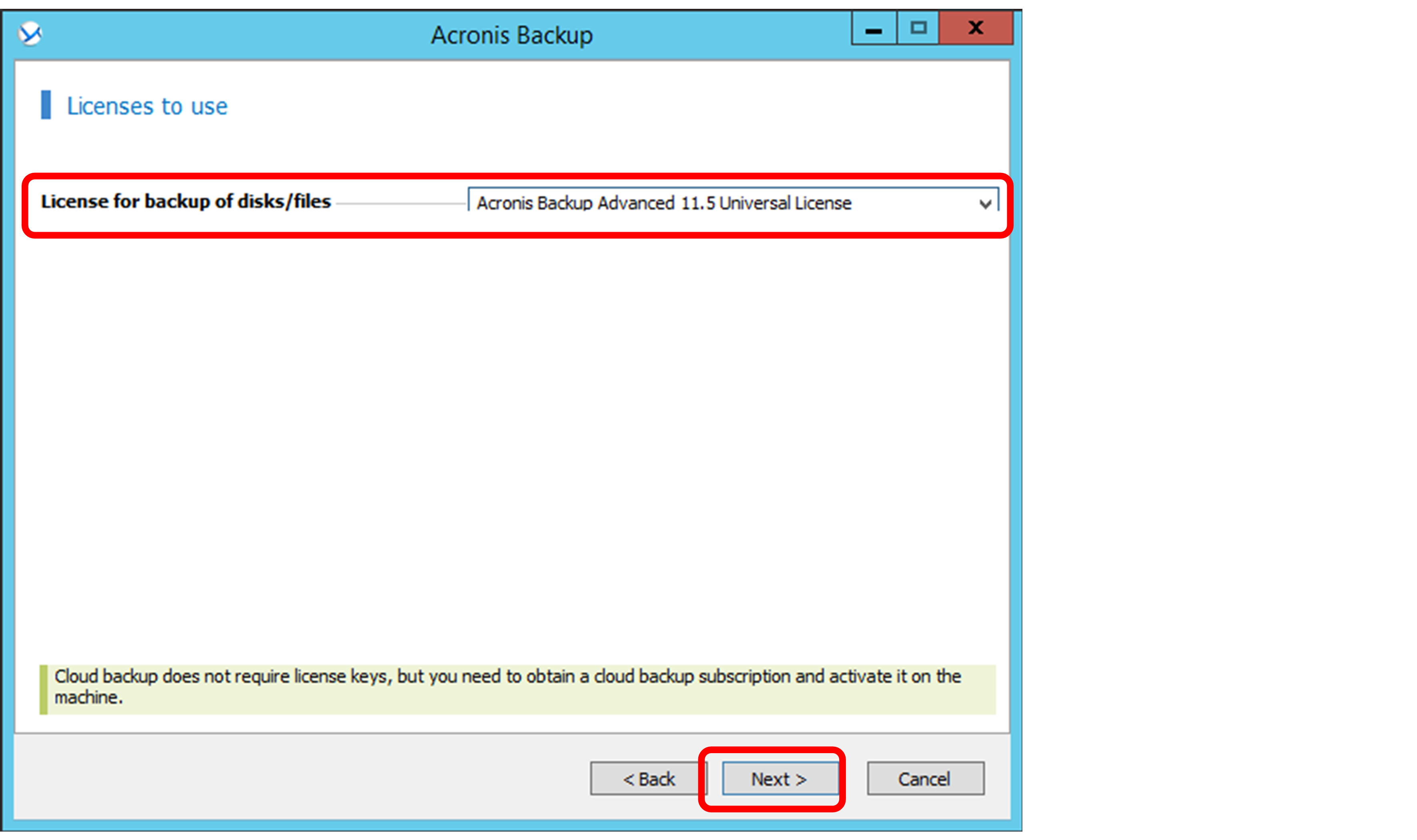 acronis activation key not working